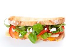 Tasty lamb sandwich Stock Image