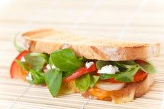 Tasty lamb sandwich Stock Photo