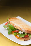 Tasty lamb sandwich Royalty Free Stock Image