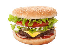 Tasty Large Cheeseburger Royalty Free Stock Image