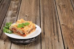 Tasty lasagna Royalty Free Stock Images