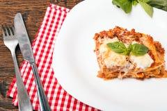 Tasty lasagna Royalty Free Stock Photos