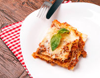 Tasty lasagna Stock Image