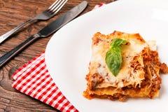 Tasty lasagna Stock Photography