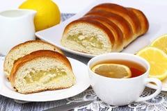 Tasty lemon cake. Royalty Free Stock Photos