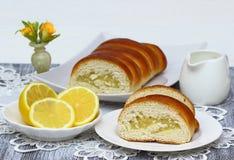 Tasty lemon cake. Royalty Free Stock Photography