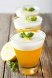 Tasty lemon jelly Royalty Free Stock Photography