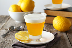 Tasty lemon jelly Royalty Free Stock Photos
