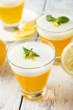 Tasty lemon jelly Royalty Free Stock Images