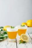 Tasty lemon jelly Stock Photography