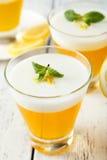 Tasty lemon jelly Stock Photo