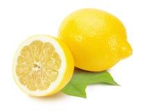 Tasty lemons isolated on the white background Royalty Free Stock Photography