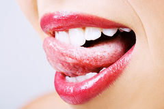 Tasty lips Stock Images
