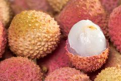 Tasty litchi Royalty Free Stock Photo