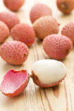 Tasty litchi fruit Stock Images