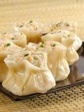 Tasty Little Siu Mai. Steamed shrimp siu mai on a plate Royalty Free Stock Photo