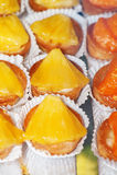 Tasty little tarts with pineapple Stock Photo