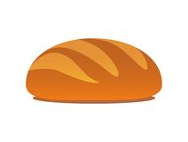 Tasty Loaf. Rifled loaf, Image of bread, Vector Illustration of baking on white background isolated Stock Photos
