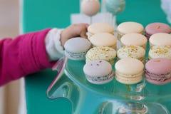 Tasty macarons Stock Image