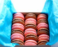 Tasty macaroons Stock Images