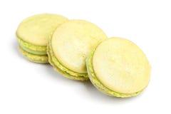 Tasty macaroons isolated. On white background Stock Images