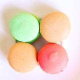 Tasty macaroons with retro filter effect Royalty Free Stock Photo