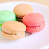 Tasty macaroons with retro filter effect Stock Images