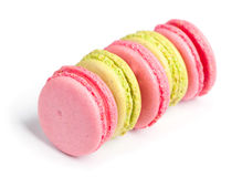 Tasty macaroons in two colors Royalty Free Stock Photos
