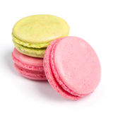 Tasty macaroons in two colors Royalty Free Stock Photo
