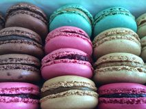 Tasty macaroons, the ultimate French delicacy Royalty Free Stock Images