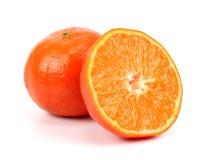 Tasty mandarine isolated on white Royalty Free Stock Images
