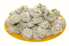 Tasty manti Royalty Free Stock Photo