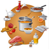 Tasty meals Stock Images
