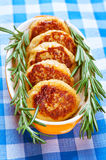 Tasty meat cutlets with rosemary Royalty Free Stock Photography