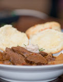 Tasty meat and potato stew Stock Photos