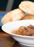 Tasty meat and potato stew stock images