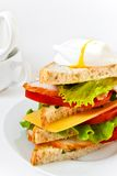 Tasty meat sandwich with vegetables Stock Images