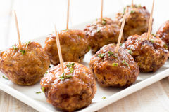 Tasty meatballs Royalty Free Stock Photos