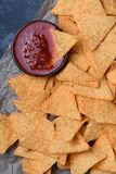 Mexican nacho chips Royalty Free Stock Photos