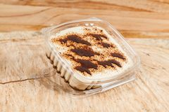 Tasty milk dessert made with coffee.  royalty free stock photos