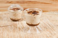 Tasty milk dessert made with coffee.  royalty free stock image