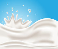 Tasty milk  , milk background Royalty Free Stock Image
