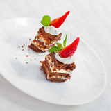 Tasty mini cakes Stock Images
