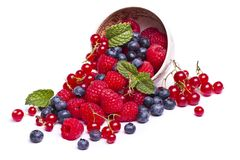 tasty mix of berries royalty free stock photo
