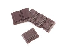 Tasty morsel of dark chocolate. Stock Photo
