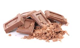 Tasty morsel of milk chocolate. Royalty Free Stock Image