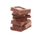 Tasty morsel of milk chocolate. Royalty Free Stock Image