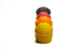 Tasty muffin cakes, isolated on white Stock Photos