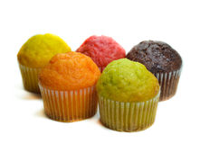 Tasty muffin cakes, isolated on white Stock Images