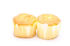 Tasty muffin cakes on white backgrond Royalty Free Stock Photo